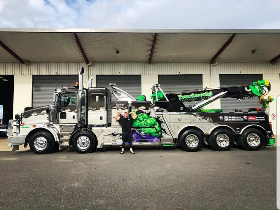 Jordan BIGGIE Steffens Tow Truck Pull Big Rig